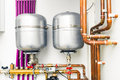 Expansion tanks in boiler-room Royalty Free Stock Photo