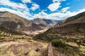 Expansive view of the sacred valley peru from pisac inca site major travel destination in cusco region ancient inca ruins in Royalty Free Stock Photography