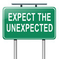 Expect the unexpected. Royalty Free Stock Photos