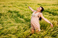 Expecting mother beautiful pregnant woman relaxing in meadow Royalty Free Stock Photos