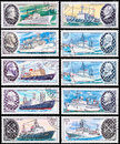 Expedition ship ussr circa a post stamp printed in ussr shows the series devoted scientific ships of ussr circa Stock Image