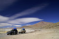 Expedition somewhere in southern bolivia part of atacama desert Stock Photo