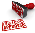 Expense Report Approved Stamp Submit Enter Costs Reimbursement Royalty Free Stock Photo