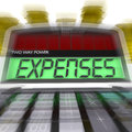 Expenses calculated shows business expenditure and bookkeeping showing Royalty Free Stock Image