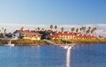 Expensive homes and boats ventura Royalty Free Stock Photography