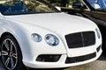 Expensive white car Royalty Free Stock Photo