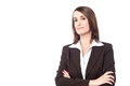 Experienced business lady posing confidently Royalty Free Stock Photo
