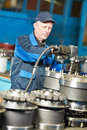 Experienced industrial assembler worker Royalty Free Stock Photos