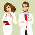 Experienced male and female doctors Royalty Free Stock Photo