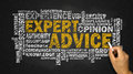 Expert advice word cloud with related tags Royalty Free Stock Photo