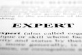 Expert the word shot with artistic selective focus Royalty Free Stock Photo