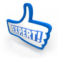 Expert Word Thumbs Up Symbol Approved Rating Experienced Review Royalty Free Stock Photos