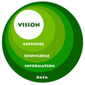 Expertise and vision going from data information to Royalty Free Stock Photos