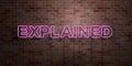 EXPLAINED - Fluorescent Neon T...