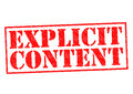 EXPLICIT CONTENT Royalty Free Stock Photo