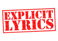 EXPLICIT LYRICS Royalty Free Stock Photo