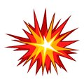 Explode effect icon, cartoon style