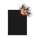 Explode stick papper art illustration Stock Image