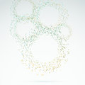 Exploded particle rings abstract background clip art Royalty Free Stock Image