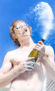 Exploding Champagne Spray Royalty Free Stock Photo