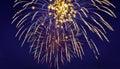 Exploding Fireworks Celebration Against Blue Sky Royalty Free Stock Photo