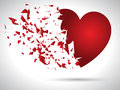 Exploding heart background for valentine s day Royalty Free Stock Photography
