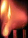 Exploding matchstick arrow with tracers a macroscopic view of an of fire Stock Images
