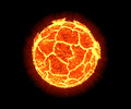 Exploding planet the on black collor background Royalty Free Stock Photos
