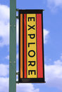 Explore Banner Stock Photo