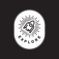 Explore Exploration Astro Icon Word Graphic Concept