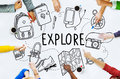 Explore Exploration Travel Journey Backpacker Concept Royalty Free Stock Photo