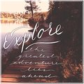 Explore the greatest adventure lies ahead Royalty Free Stock Image