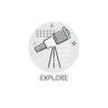 Explore Telescope Astronomy Science Icon