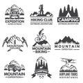 Explorer labels set. Travel pictures