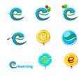 Explorer logo e learning logo illustration of Stock Photography