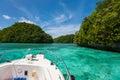 Exploring limestone islands in Palau Royalty Free Stock Photo