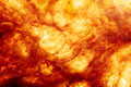 Explosion background image of a fiery Stock Photos