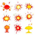 Explosion blast or bomb bang fire comic book vector eps illustration Royalty Free Stock Image
