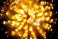 Explosion of bokeh heart blur background