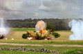 Explosion From Cannon Shell Stock Photography
