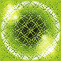 Explosion circle light dots, Abstract background in grid of green Royalty Free Stock Photo