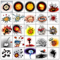 Explosion collection Royalty Free Stock Photography