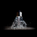 Explosion d ampoule Photo stock