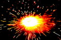 Explosion of a fire cracker Royalty Free Stock Images