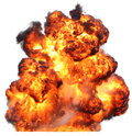 Explosion fireball isolated fire Royalty Free Stock Photo