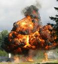 Výbuch plameň