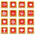 Explosion icons set red