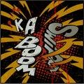 Explosion ka-boom Royalty Free Stock Photography