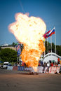 Explosion of petrol Royalty Free Stock Images