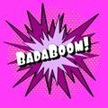 Explosion pop art pink, stylish EPS 10
